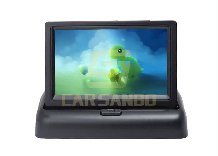 4.3 Inch Foldable Auto LCD Monitor / Car Rearview Lcd Monitor